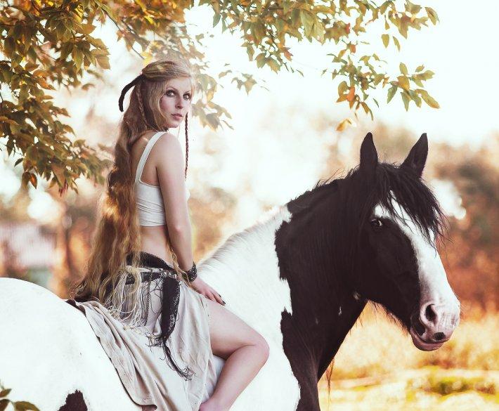 Sesja z końmi