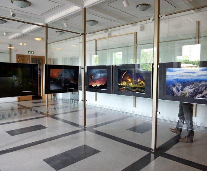Oglądanie zdjęć i przygotowania do wystawy